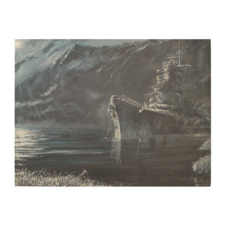 The Lone Queen Of The North Tirpitz Norway1944 Wood Wall Decor