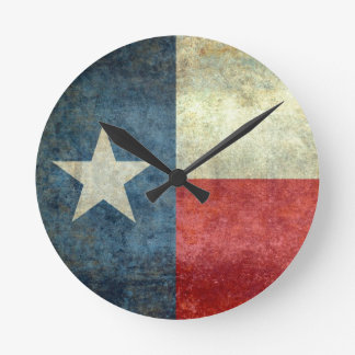 "The ""Lone Star Flag"" of Texas Round Clock"