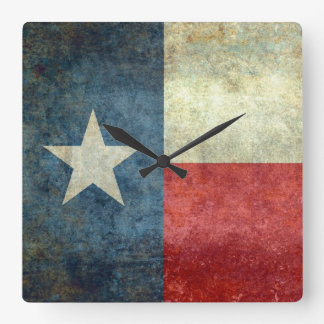 "The ""Lone Star Flag"" of Texas Square Wall Clock"