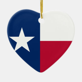 The Lone Star Flag Texas Flag Ceramic Heart Decoration