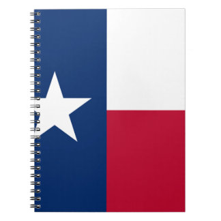 The Lone Star Flag Texas Flag Spiral Notebook