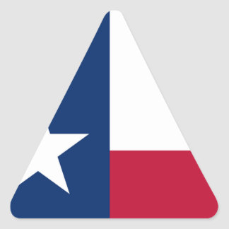 The Lone Star Flag Texas Flag Triangle Sticker