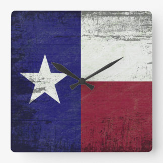 The Lone Star Square Wall Clock