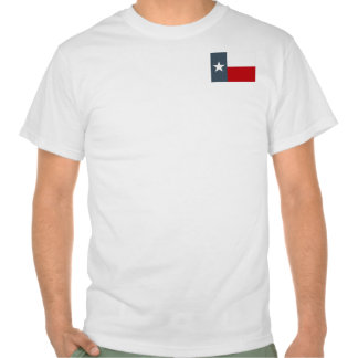 The Lone Star State Texas Flag Faded Denim Blue T-shirts
