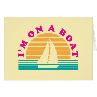The Lonely Island On A Boat Greeting Card