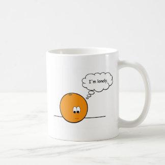 The Lonely Orange Basic White Mug