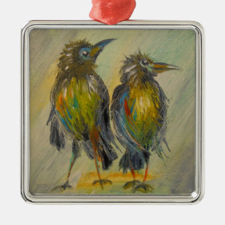 The long-awaited rain for the crows christmas ornament