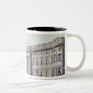 The long bridge with an aristocratic monument Two-Tone coffee mug
