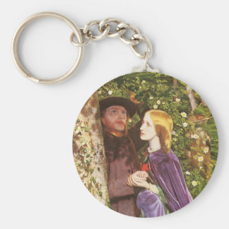 The Long Engagement, Arthur Hughes, Victorian Art Basic Round Button Key Ring
