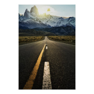 The Long Road To Fitzroy Mountain - Ruta 40 Poster