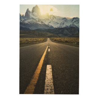 The Long Road To Fitzroy Mountain - Ruta 40 Wood Print