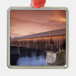 The longest covered bridge in the United States Christmas Ornament