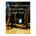 The longest journey begins with a single step postcards