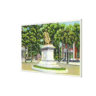 The Longfellow Monument # 2 Gallery Wrapped Canvas