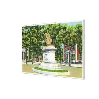 The Longfellow Monument # 2 Canvas Print