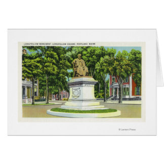 The Longfellow Monument # 2 Greeting Card