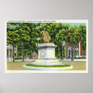 The Longfellow Monument 2 Print