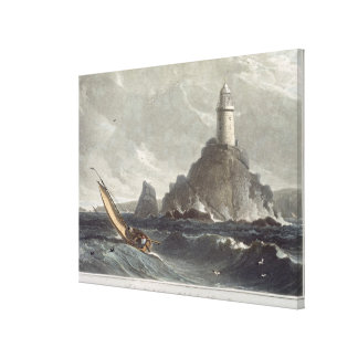 The longships lighthouse of Lands End, Cornwall, f Canvas Print