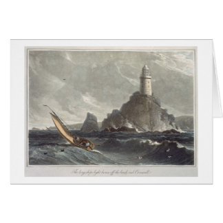 The longships lighthouse of Lands End, Cornwall, f Greeting Card