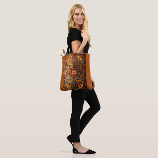 The look of antique leather book tote bag