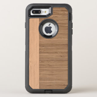 The Look of  Bamboo Border Wood Grain in Almond OtterBox Defender iPhone 7 Plus Case
