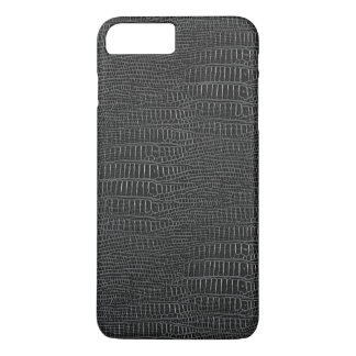 The Look of Black Realistic Alligator Skin iPhone 8 Plus/7 Plus Case