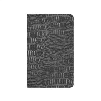 The Look of Black Realistic Alligator Skin Journal