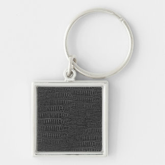 The Look of Black Realistic Alligator Skin Key Ring