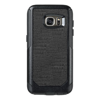 The Look of Black Realistic Alligator Skin OtterBox Samsung Galaxy S7 Case