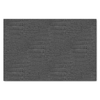 The Look of Black Realistic Alligator Skin Tissue Paper