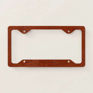 The Look of Brown Realistic Alligator Skin Licence Plate Frame