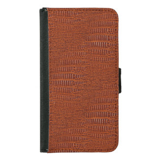 The Look of Brown Realistic Alligator Skin Samsung Galaxy S5 Wallet Case