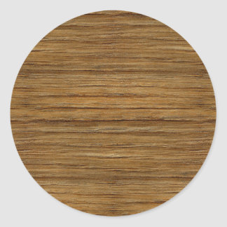 The Look of Driftwood Oak Wood Grain Texture Classic Round Sticker