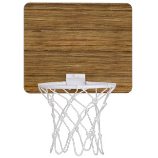The Look of Driftwood Oak Wood Grain Texture Mini Basketball Hoop