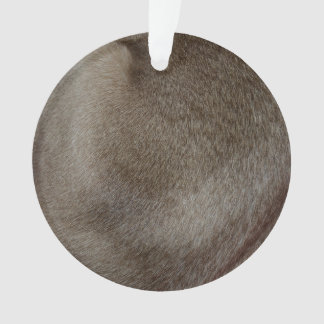 The look of Luxurious Seal Point Siamese Cat Fur Ornament