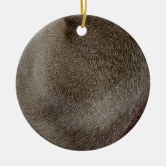 The look of Luxurious Seal Point Siamese Cat Fur Round Ceramic Decoration