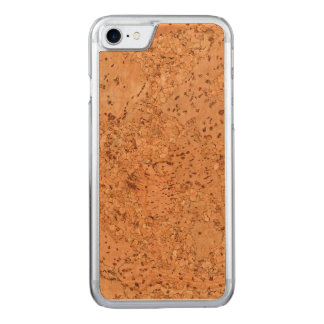 The Look of Macadamia Cork Burl Wood Grain Carved iPhone 7 Case