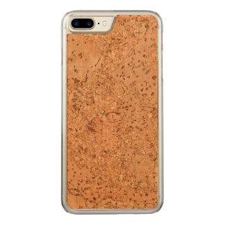 The Look of Macadamia Cork Burl Wood Grain Carved iPhone 7 Plus Case