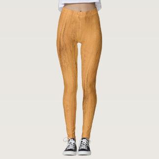 The Look of Maple Wood Grain Texture Leggings