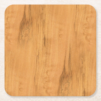 The Look of Maple Wood Grain Texture Square Paper Coaster