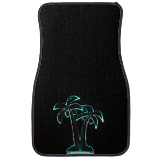 The Look of Neon Lit Up Tropical Palm Trees Car Mat