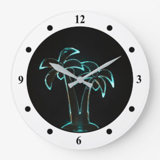 Neon Light Wall Clocks #1: the look of neon lit up tropical palm trees wall clocks rd72de315b2e d0f4e60bfe88 fup13 8byvr 324