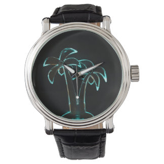 The Look of Neon Lit Up Tropical Palm Trees Watch