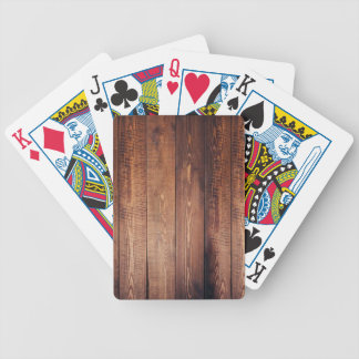 The look of real wood! bicycle playing cards