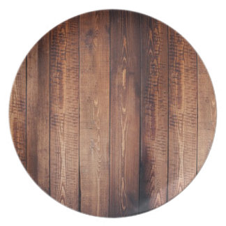 The look of real wood! plate