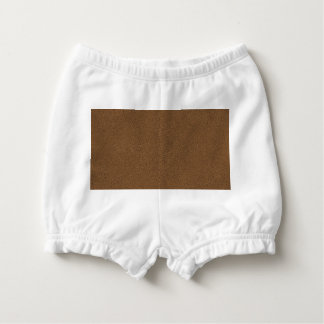 The look of Snuggly Coffee Brown Suede Texture Nappy Cover