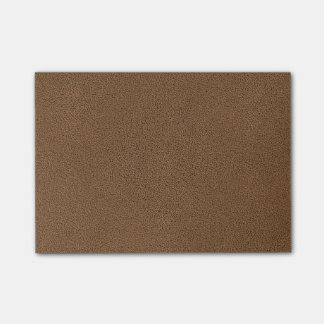 The look of Snuggly Coffee Brown Suede Texture Post-it Notes