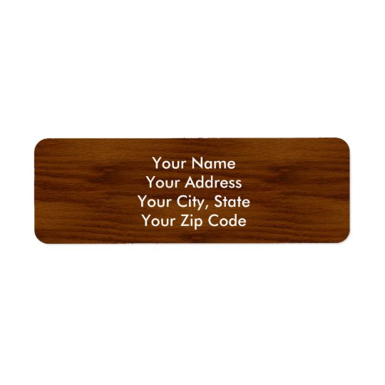 The Look of Warm Oak Wood Grain Texture Return Address Label