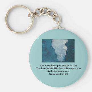 THE LORD BLESS YOU BASIC ROUND BUTTON KEY RING