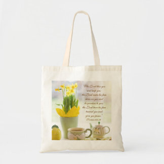 The Lord Bless You Bible Verse Tea Party Daffodils